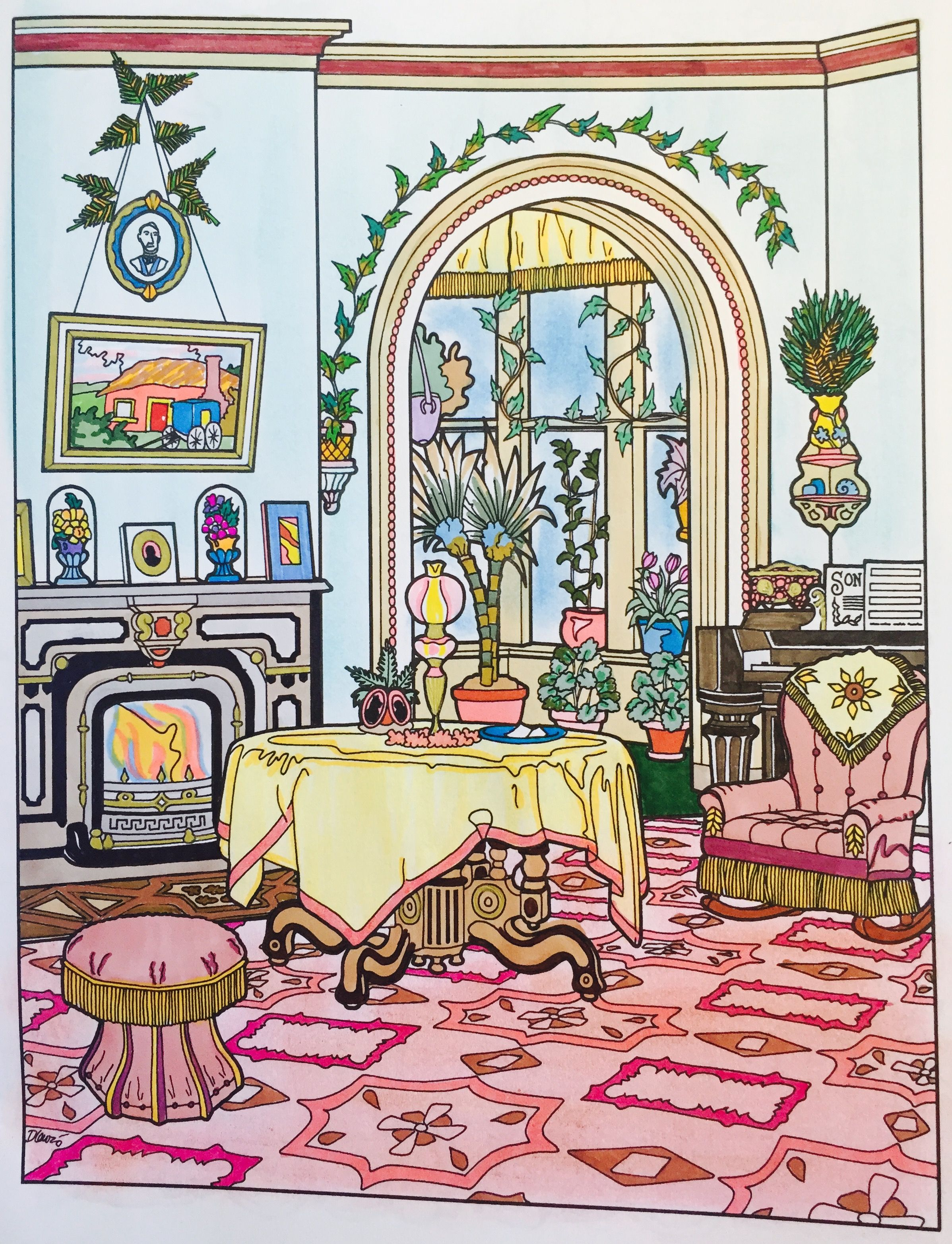 Victorian House-the parlor.   kkb