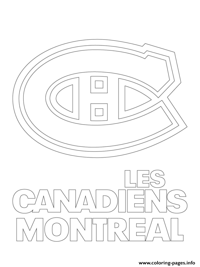 print montreal canadiens habs logo nhl hockey sport1 coloring pages