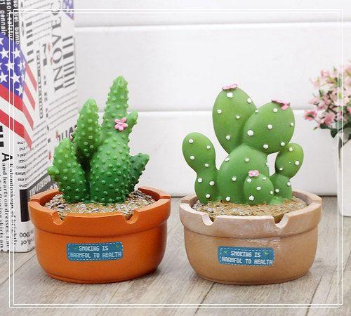 Artificial cactus ashtray Smoking ashes Container Home Decor Fantasy Gift For Him