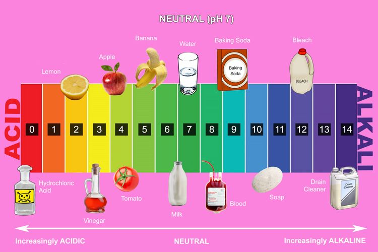 The pH scale is used alongside universal indicator to