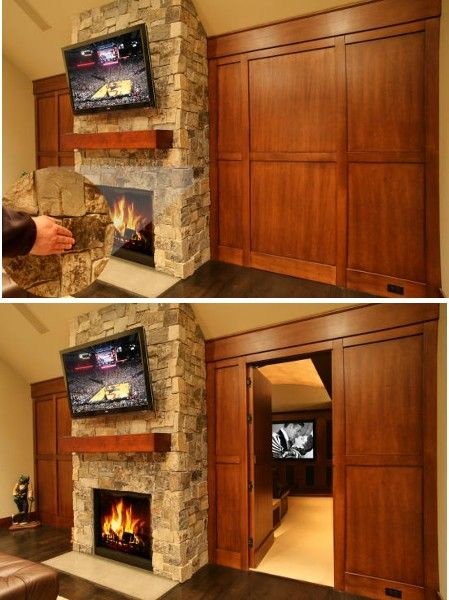 Secret Door Love The Stone Key Concept Home Theatermedia Roomsliving Room Ideasliving