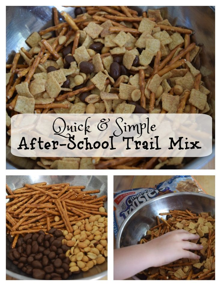 Quick and Simple After-School Trail Mix - An easy and quick snack to throw together with only 4 ingredients!