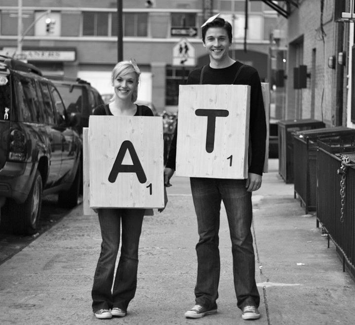 22 creative group halloween costumes to wear with friends for Diy scrabble costume