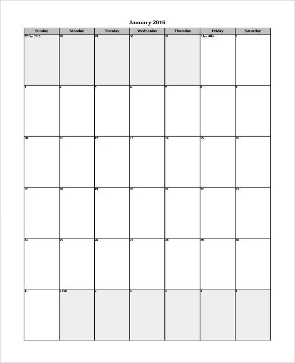 2016 Calendar Template 51 Free Word Pdf Psd Eps Ai