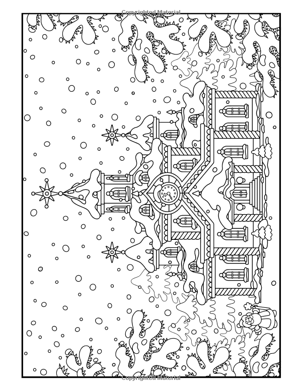 Christmas Coloring Book: A Stress Management Coloring Book