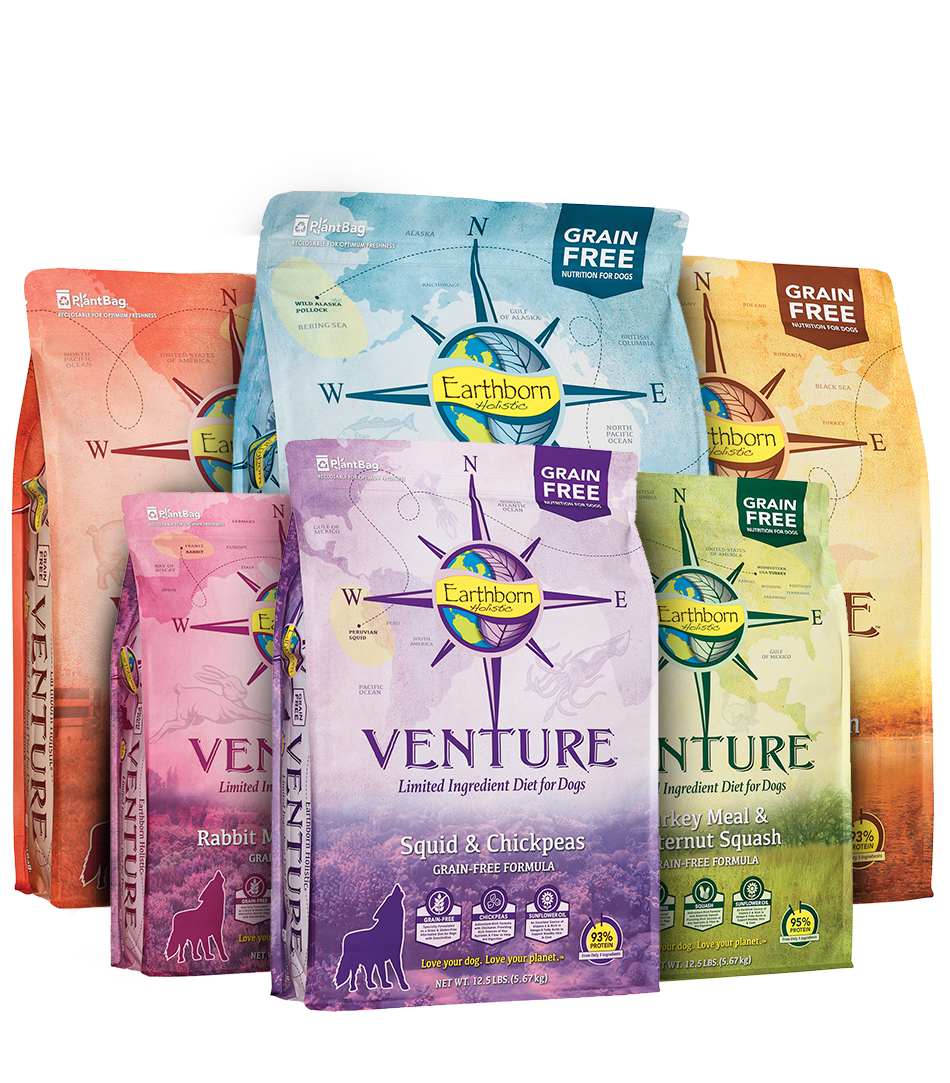 We have added Earthborn Holistic grainfree dog food to
