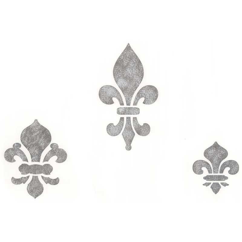 Classic Fleur De Lis Set 1 Stencils Mural Stencil French Stencil Patterns Stencil Wall Art