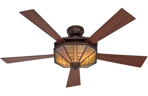 Hunter 1912 Mission 54 Bronze Ceiling Fan With Light 21978 278 78 Celling Fan Com Craftsman Ceiling Fans Ceiling Fan Bronze Ceiling Fan