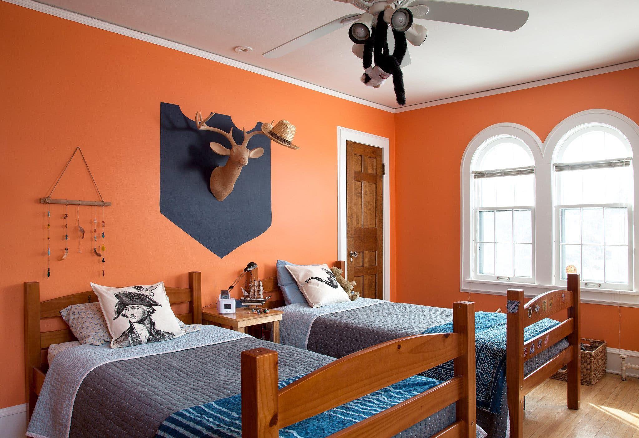 A democracy of style in 2020 orange bedroom walls