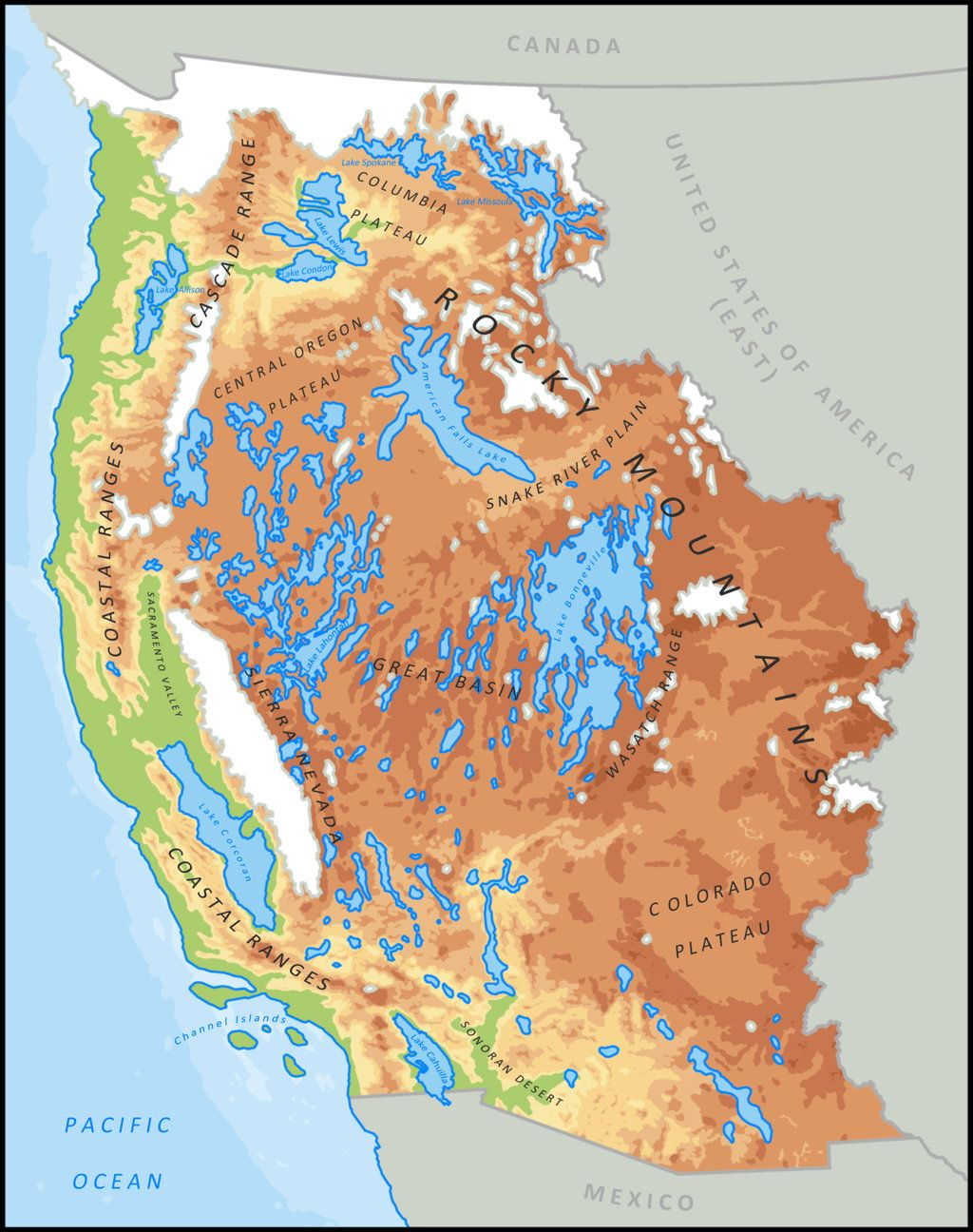 Great Lakes of the Pleistocene by DaFreak47deviantartcom on