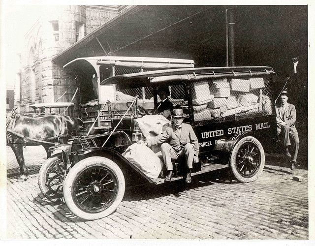 Parcel Post Vehicles and Employees 1914