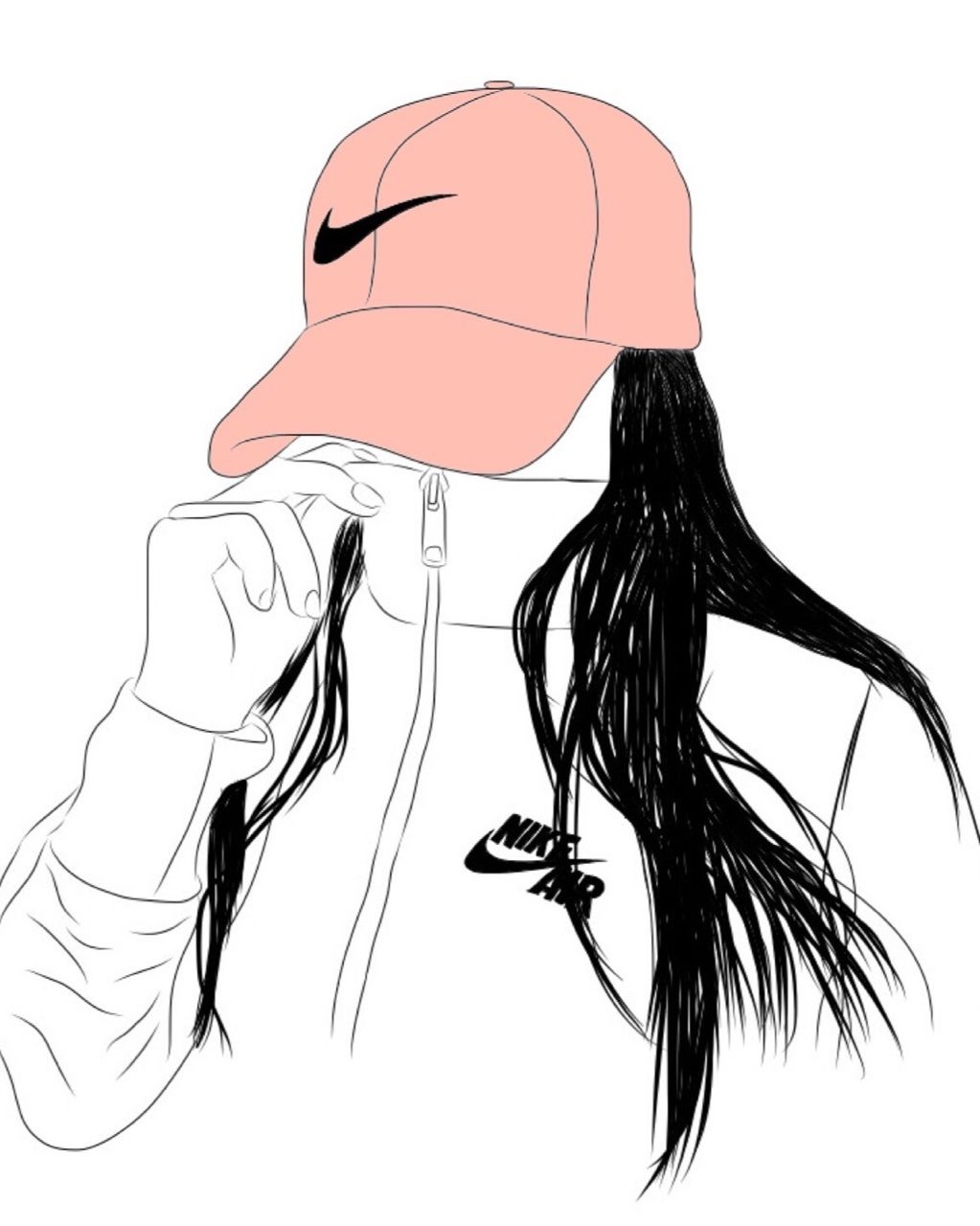 Outline Art, Outline Drawings, Girl Drawings, Drawing Girls, Outline  Images, Drawing Art, Drawing Ideas, Girl Outlines, Dope Art