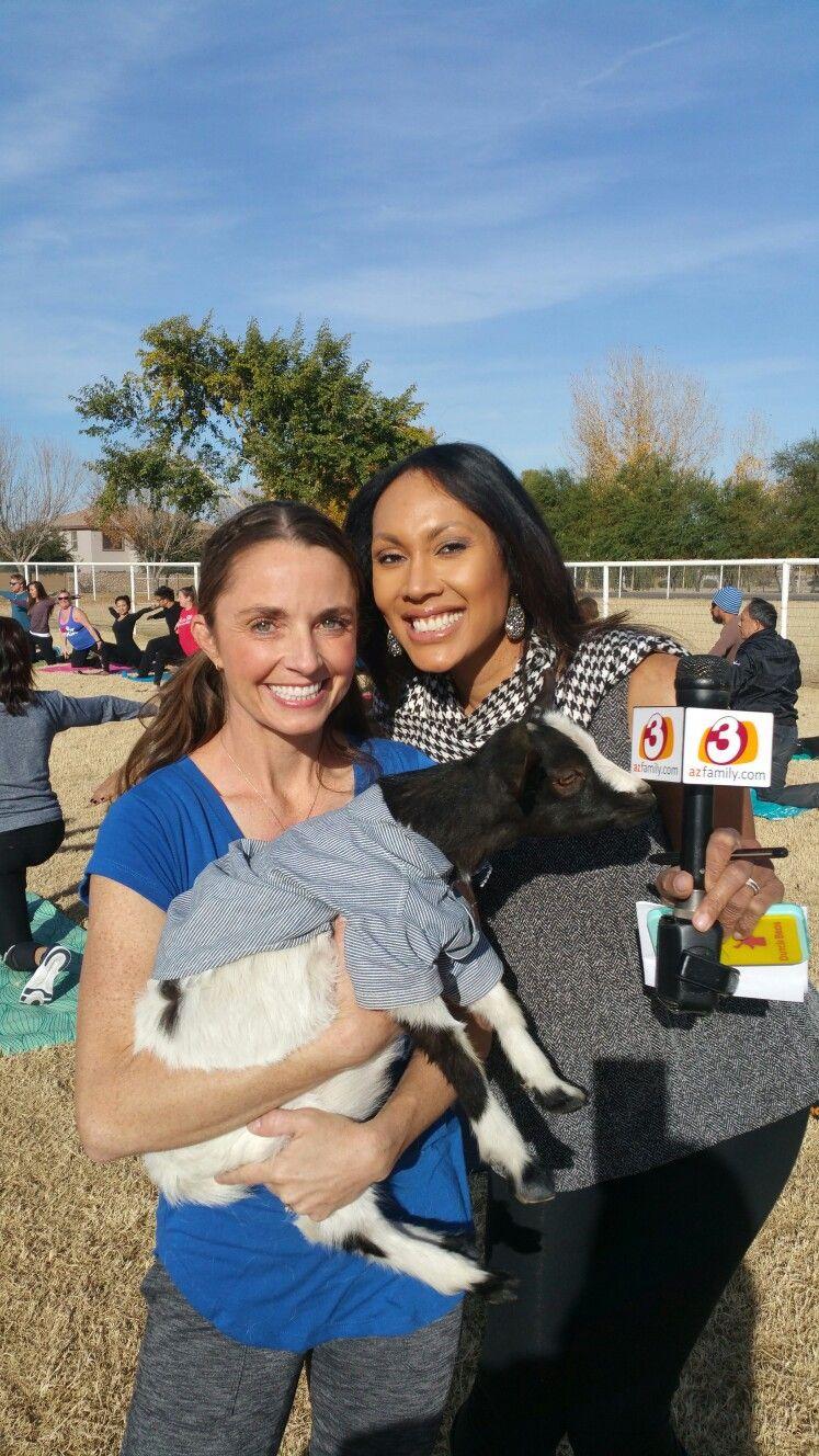 News Channel 3 Good Morning Arizona! Goat Yoga and Yoga with Goats