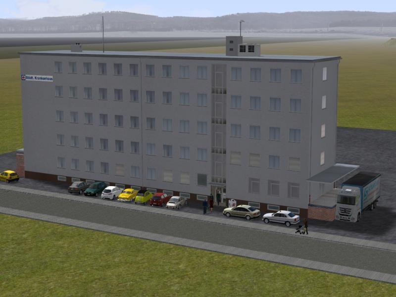 Stadt-Krankenhaus mit Haupt- und Nebengebäude. Ab #EEP10 http://bit.ly/Stadt-Krankenhaus