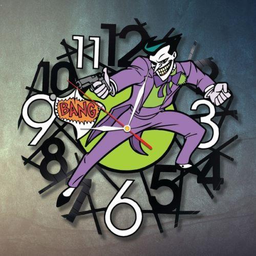 Joker Art Bedroom Decor Wall Clock Marvel Vinyl Record
