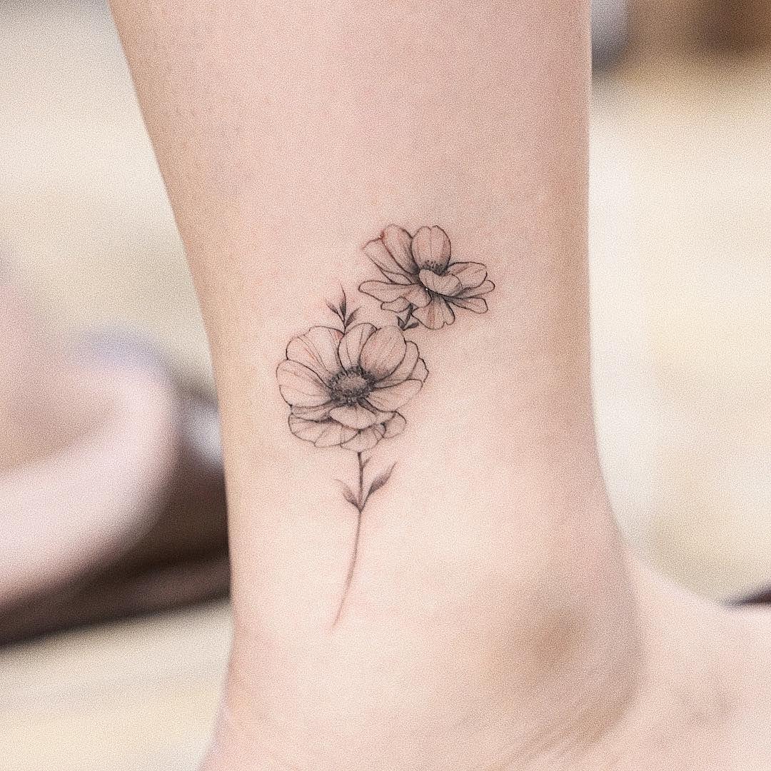 Beryforestink Berytattoo Published Wtforest Anemone Tattoo Byanemone Tattoo By Bery Forestink Pub Minimalist Tattoo Anemone Tattoo Simplistic Tattoos
