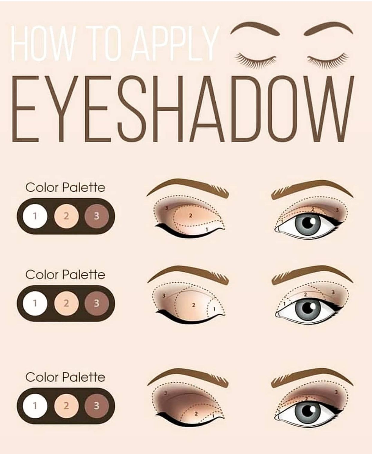 How to apply eyeshadow tips!😍🌟 Eyeshadow guide, How to