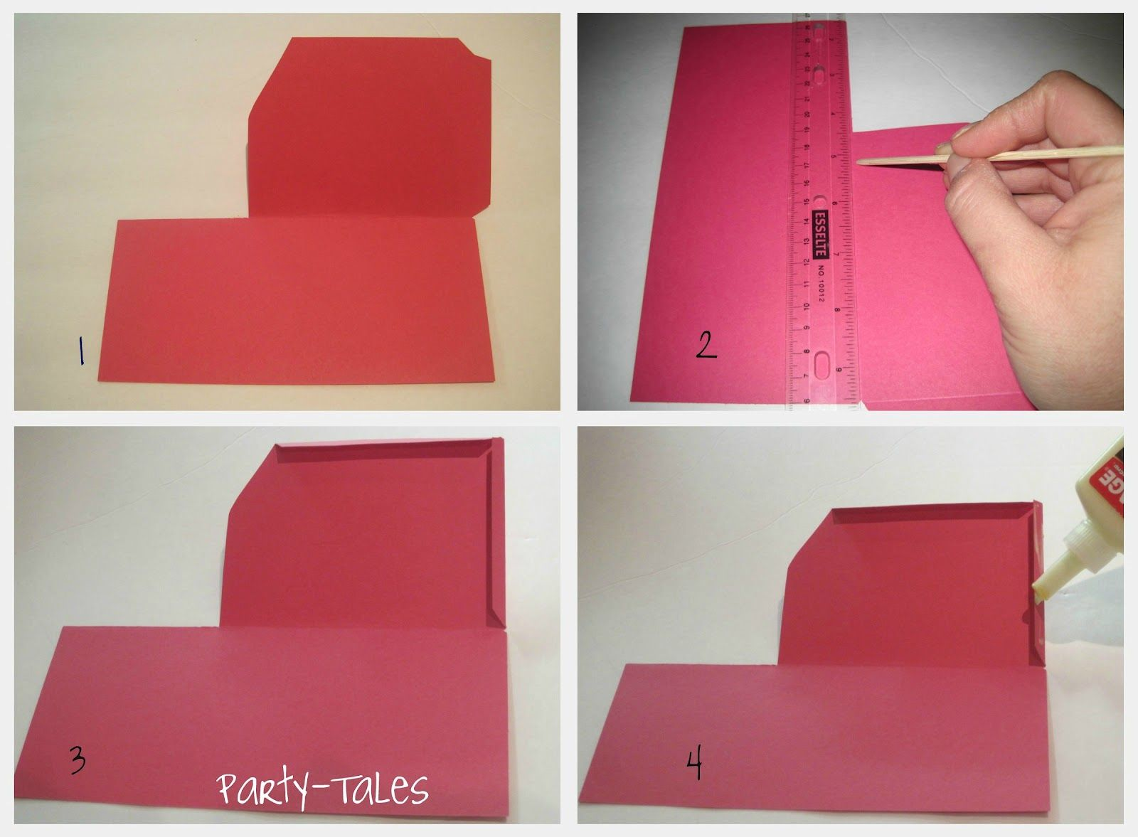 Party-Tales: ~ Tutorial ~ DIY How to make a Boarding Pass Invitation ...