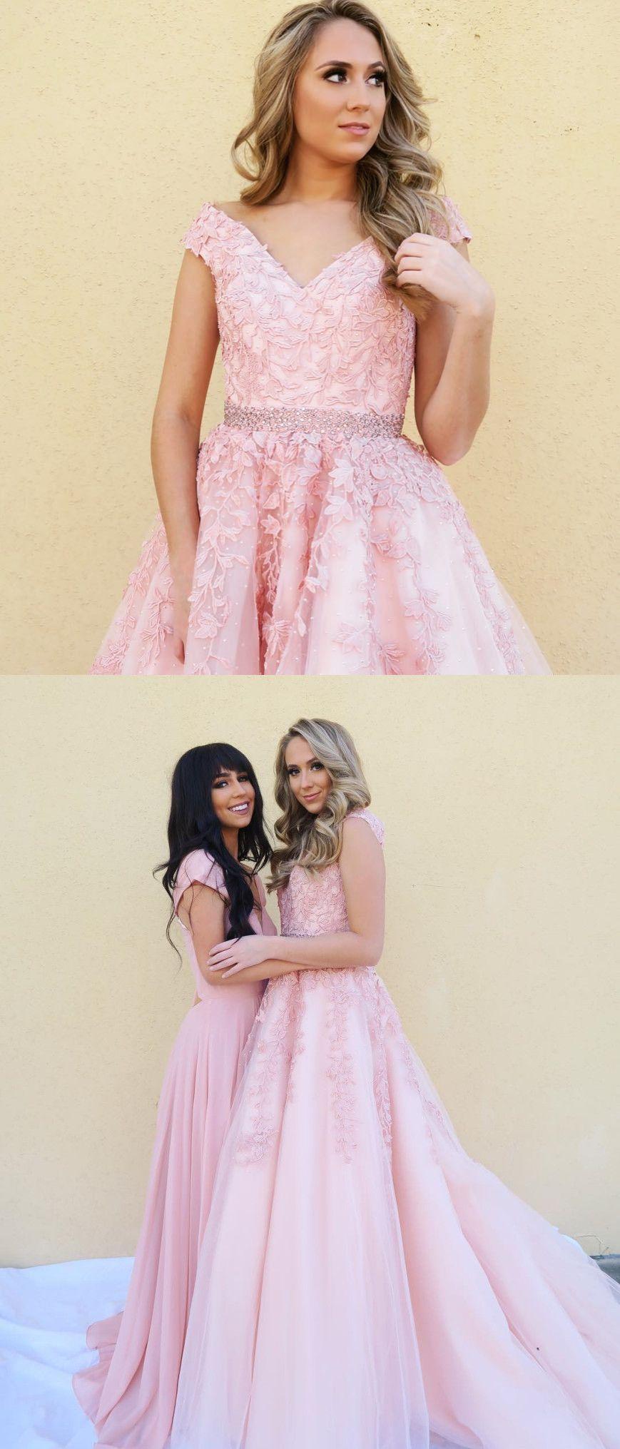 Princess pink long prom dress prom dress ball gown ivo