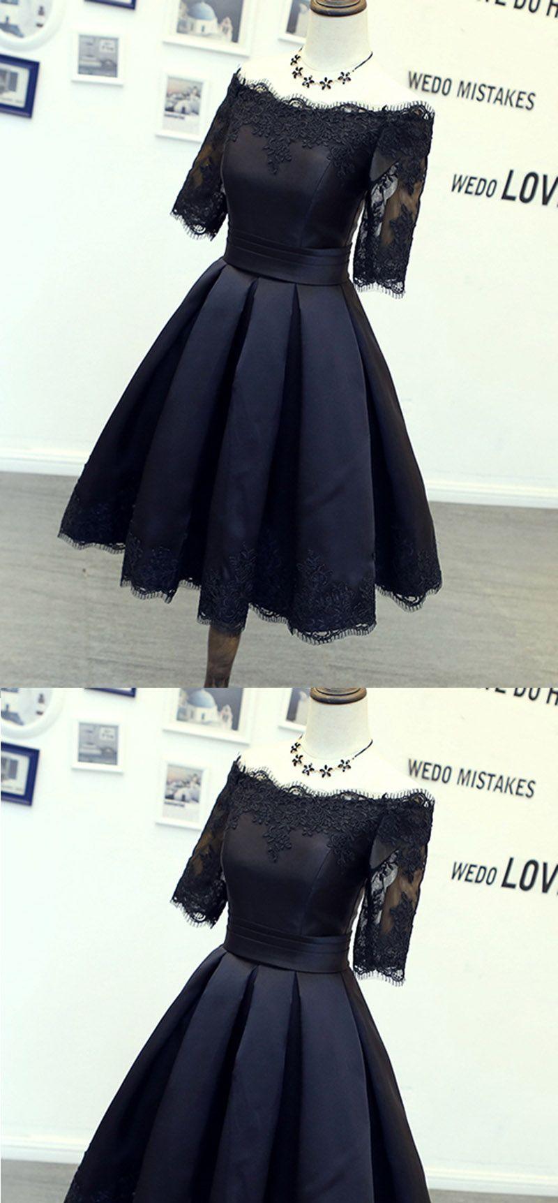 Dark navy homecoming dresses short lace appliqes girls th grade