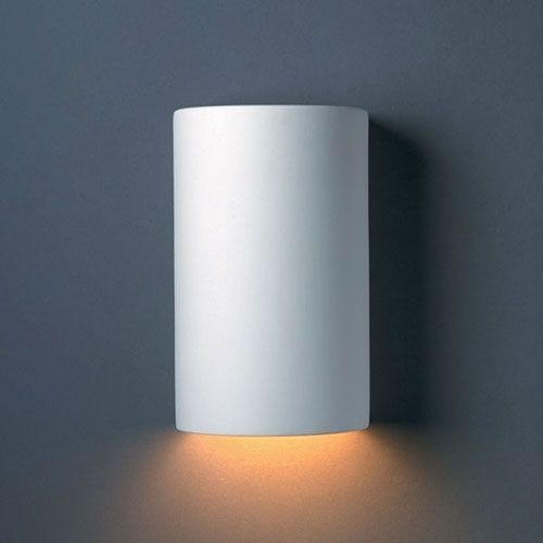 Ambiance Hammered Pewter Small Cylinder Bathroom Wall Sconce - (In FFF-Hammered Pewter(HMPW))
