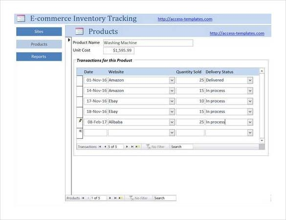 e-commerce-inventory-tracking-access-database | Access Database ...