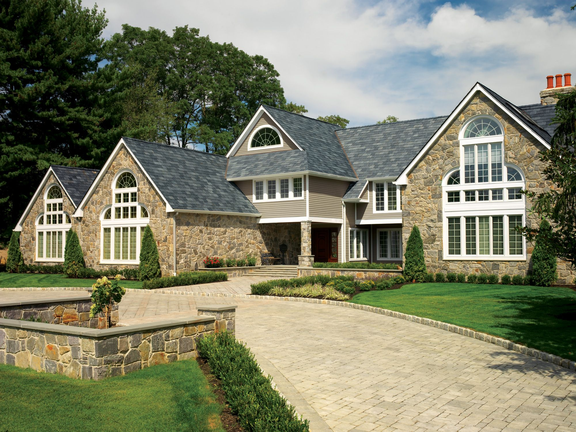Gaf Truslate Slate Roof Onyx Theroofagency Com 817 722 5866 Roofing Slate Roof Roofing Contractors