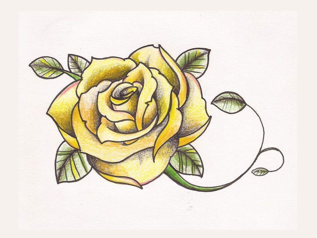 Yellow rose tattoo. Thinking of having three roses, surrounded by ...