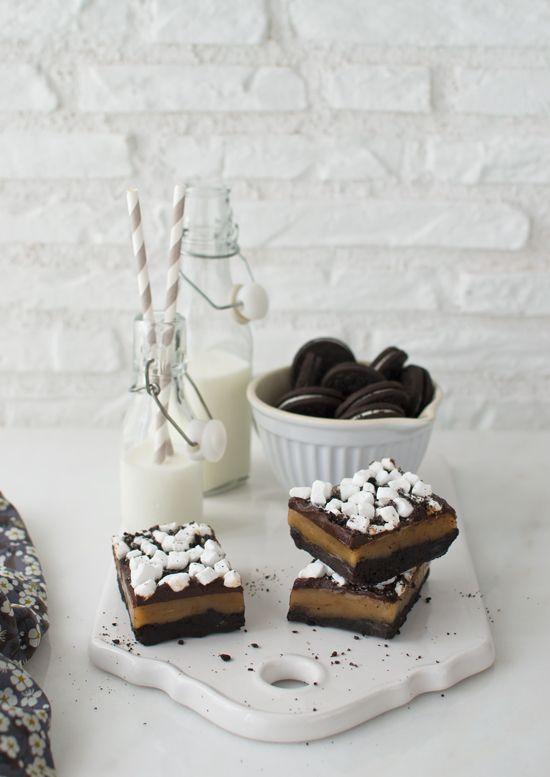 ☆ oreo caramel chocOlate marshmallow brownie bars