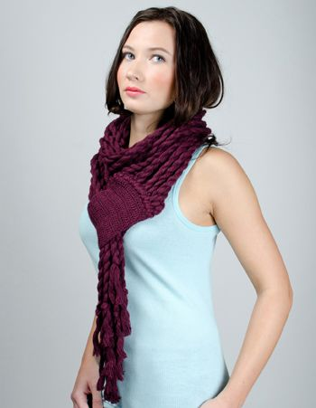 Check out the coiled ropes on this scarf from De*Nada Design