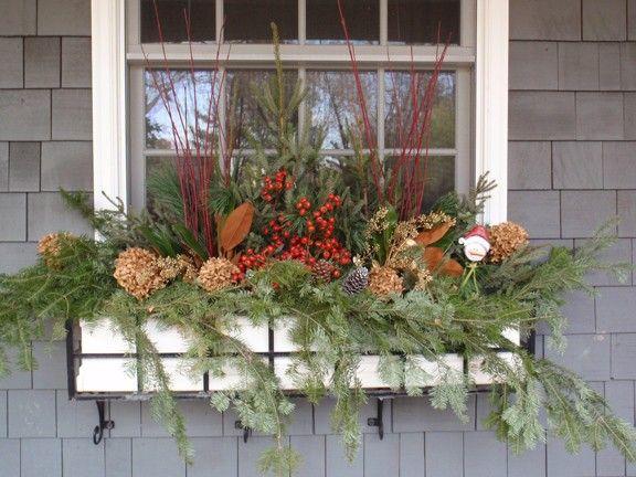 Garden Portfolio Winter Window Boxes Window Box Flowers Christmas Window Boxes