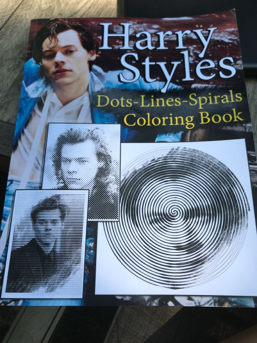 Harry Styles Dots Lines Spirals Dots To Lines Dotted Line Coloring Books