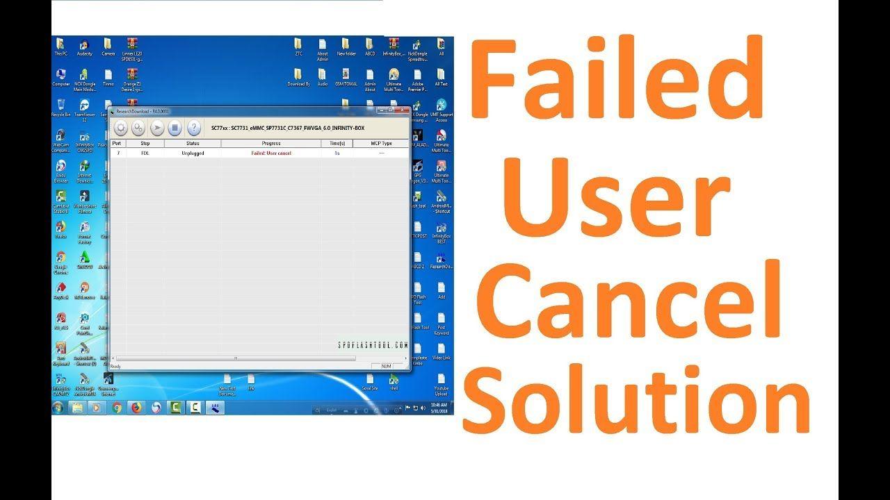 SPD Flash Tool Failed User Cancel Solution l Faile… | SPD