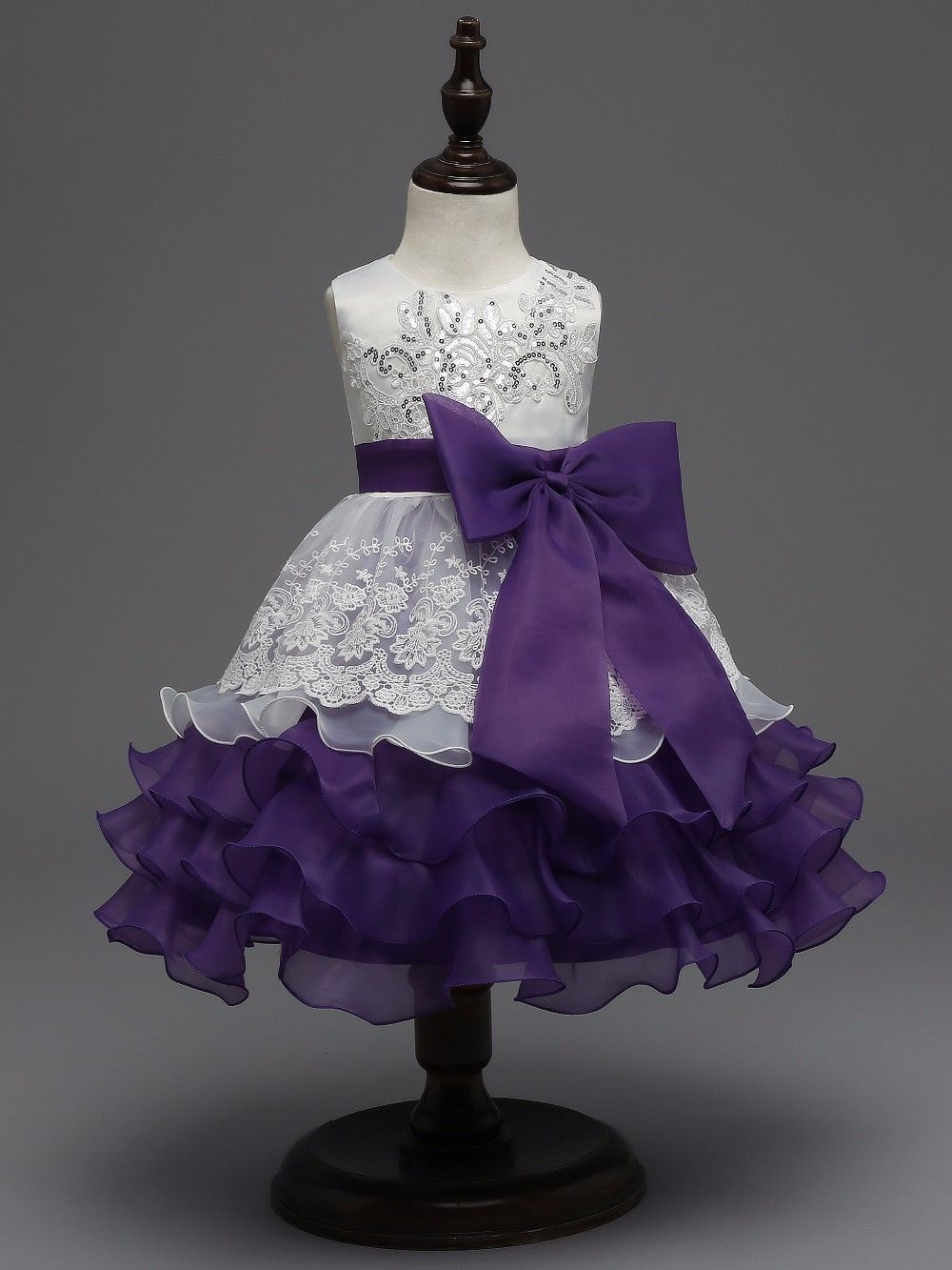 098cfdd33 14  Baby Clothes Sale! Sequin Formal Evening Gown Flower Wedding ...
