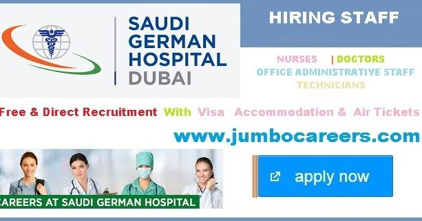 Saudi German hospital Dubai Jobs 2019, Nurses vacancies at Saudi
