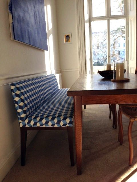 with different fabric-padded dining bench with low back - Google ...