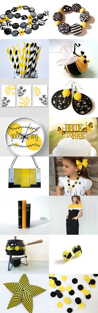 black and yellow  by Ranit Cojocaru on Etsy--Pinned with TreasuryPin.com
