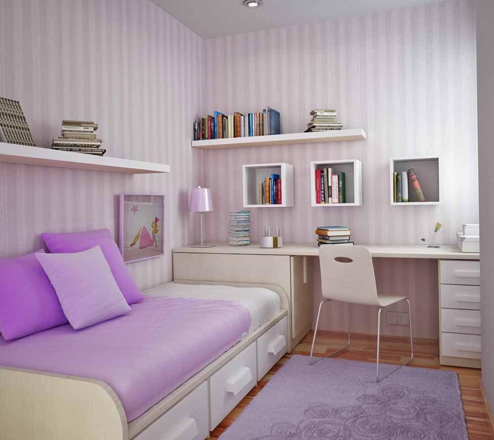 foto desain kamar tidur ukuran kecil sederhana | home decorating