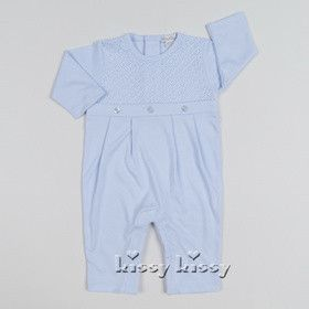 Kissy Kissy Boys Blissful Playsuit (sz 0/3m, 3/6m) FALL 2016 PREORDER