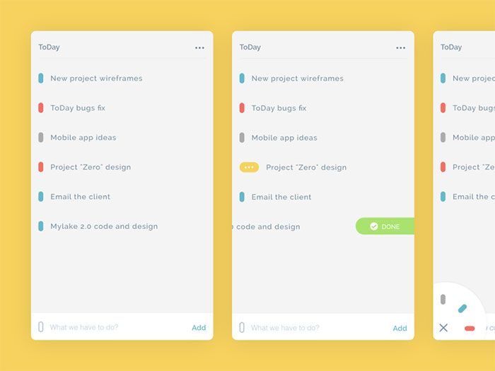 Updated ToDay app UX, UI_Mobile Pinterest Ui inspiration - project list