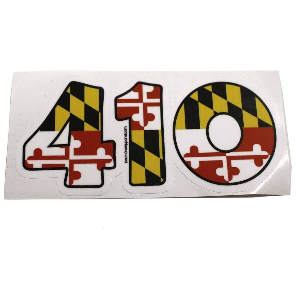 410 maryland flag sticker