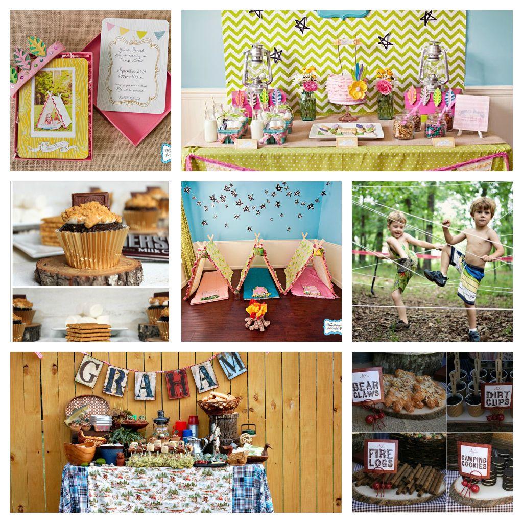 camping party supplies upper left kara s party ideas kara s
