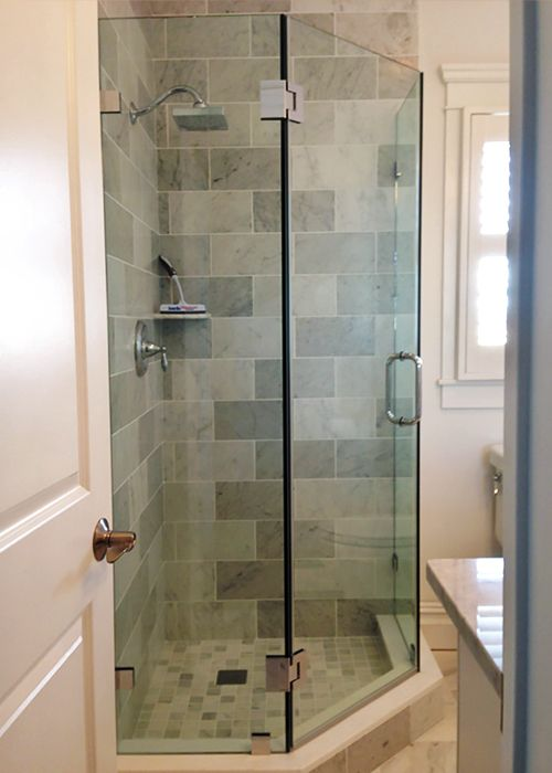 Neo Angle Shower Doors Corner Shower Manalapan Nj Showerman