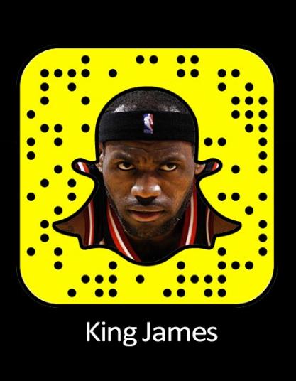 e2a77f6f4a18 LeBron James Snapchat Username  amp  Snapcode  LeBronJames  snapchat http    gazettereview