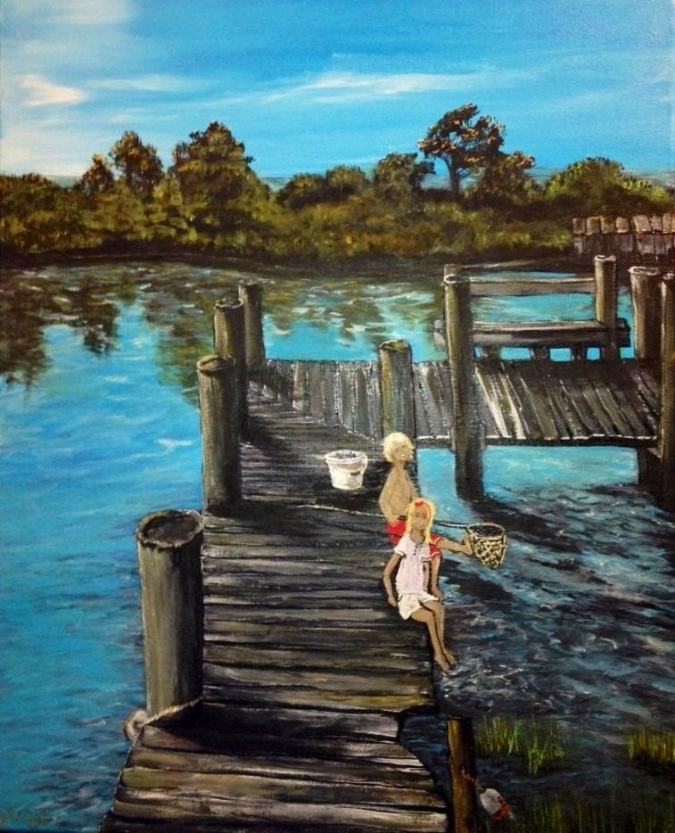 Crabbing on the bay by kaakreationz on etsy 20000 sea