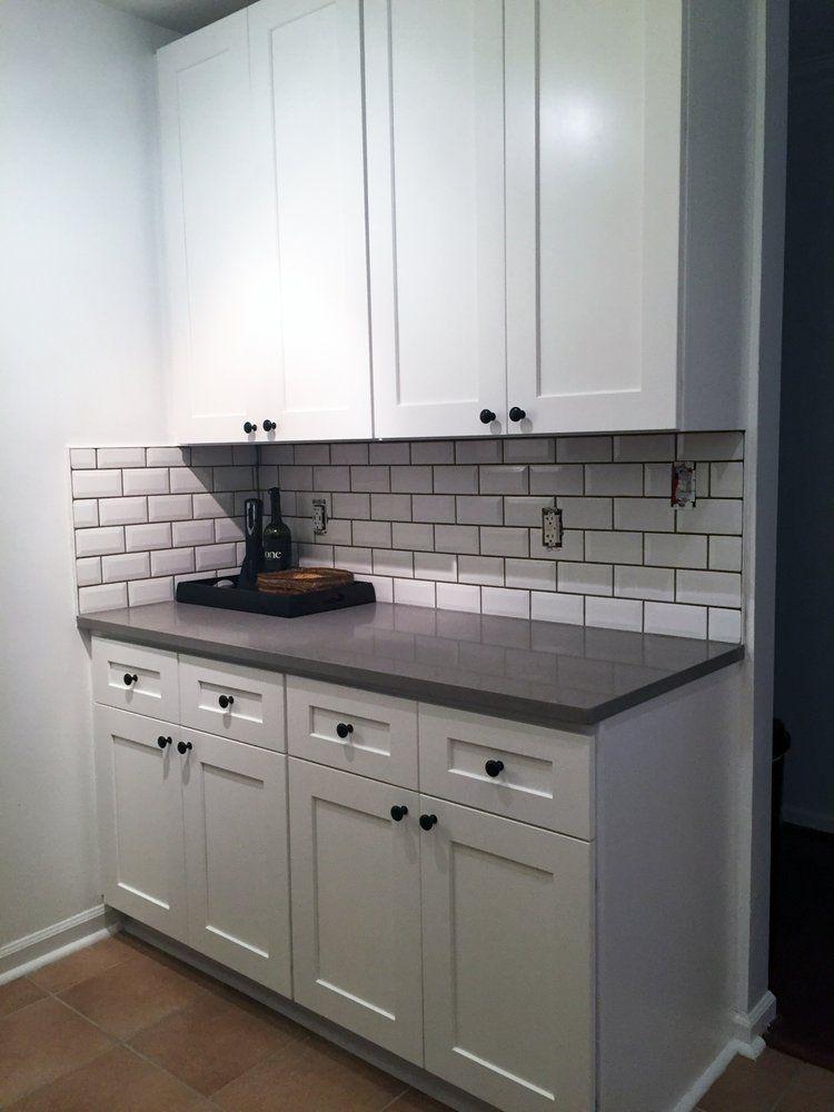 Fossil Gray Quartz White Cabinets Google Search Kitchen