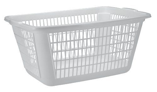 United Solutions Rectangular Plastic Laundry Basket 125 Bushel