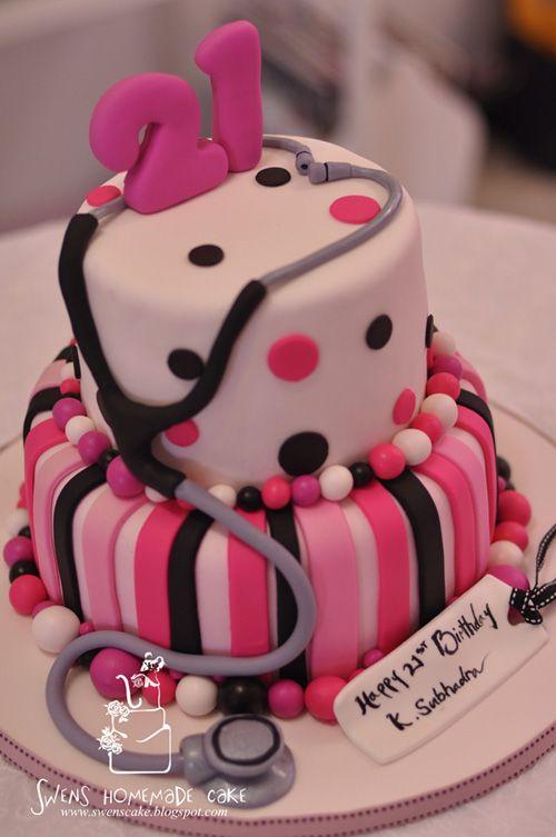 21st Birthday Cake Pink2 500x753 Pixels