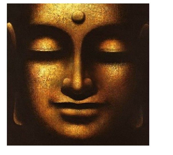 aliexpresscom buy large canvas no frame modern abstract oil painting buddha face