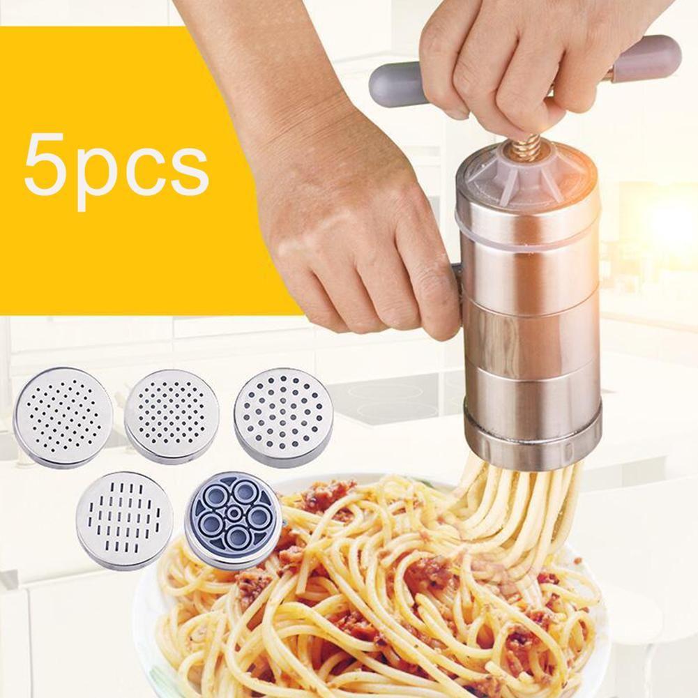 Stainless Steel Pasta Noodle Maker Fruit Juicer Spaghetti Manual Press Machine